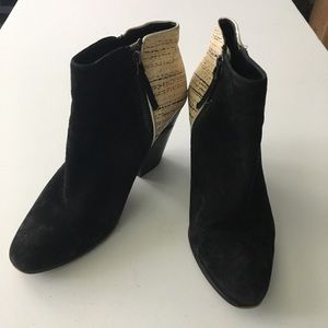 """Dolce Vita Suede 3"""" Chunky Heels Ankle Boots"""